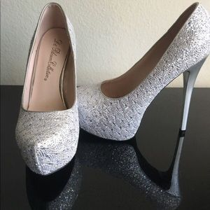 Sparkling cute heels